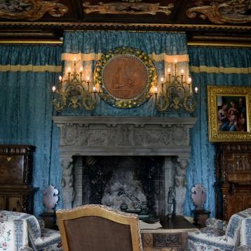 Living Room inside Hearst Castle